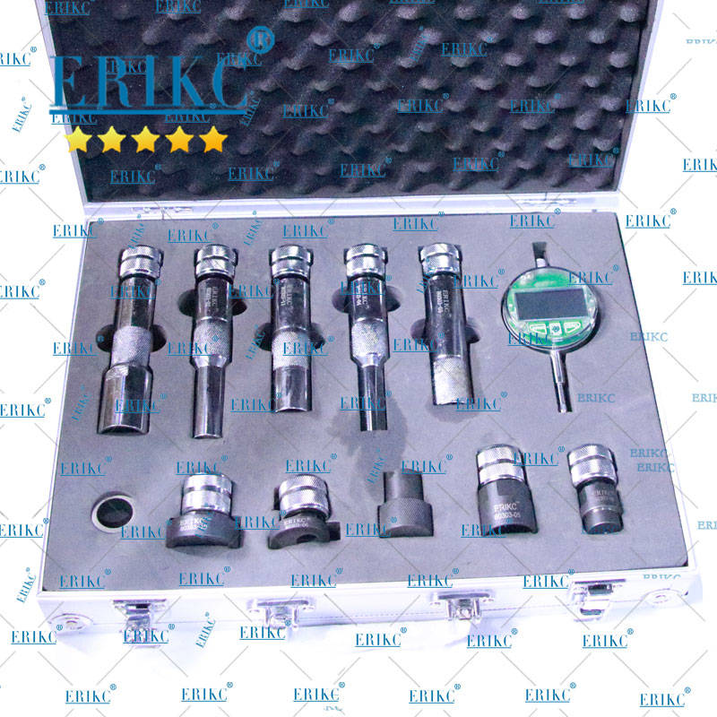 ERIKC Common Rail injection Washer Gaskets Space Testing Kits Diesel Injector Shims Test Tool injector measure tools set