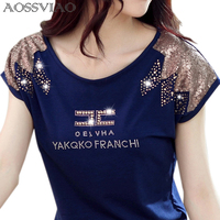 Tee Shirt Femme Graphic Tees Short Sleeve Tops Letter Tshirt Women T Shirt Woman Clothes Cotton