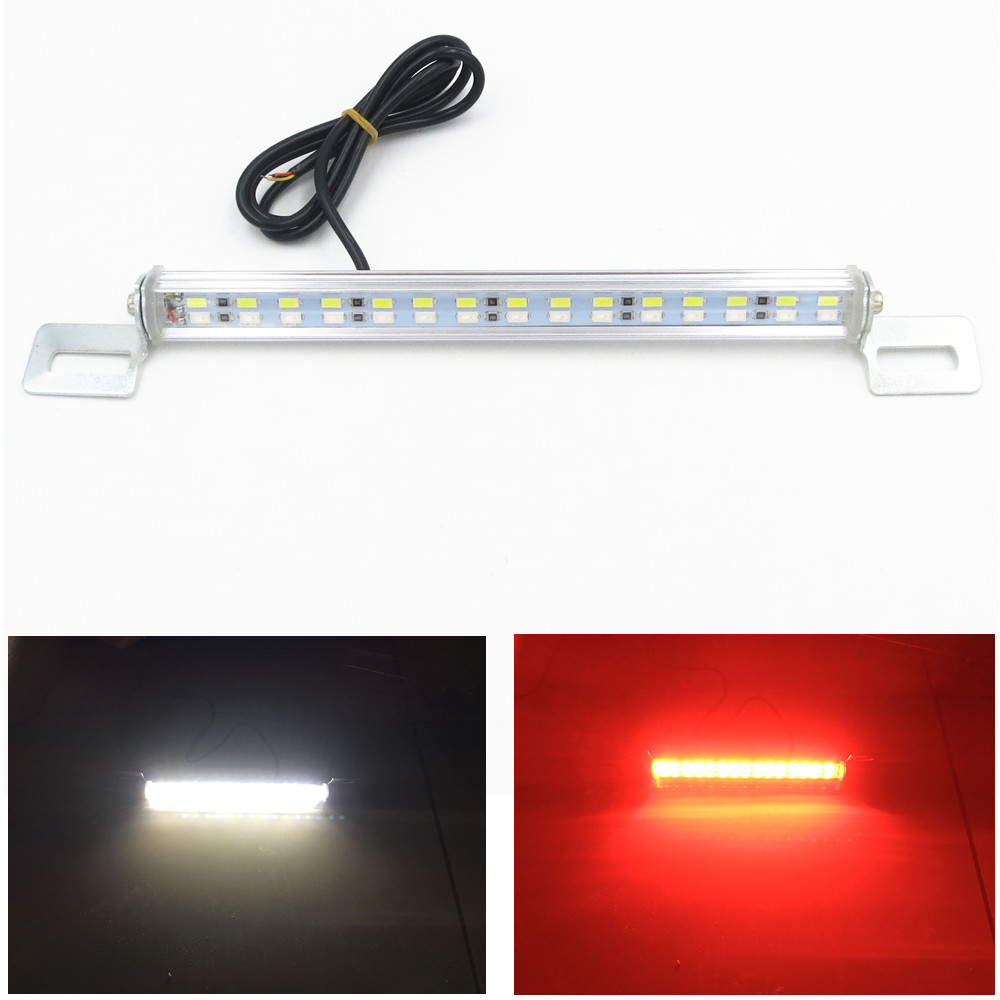 White+Red 30LED Bolt On License Plate Backup Reverse Brake Lights Universal 12V