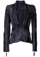 2016 Fashion Slim Full sleeve Stand Neck Amy Green Gray Jeans Women Oversized Denim Jackets Punk Chaquetas Vintage Rivet Coats
