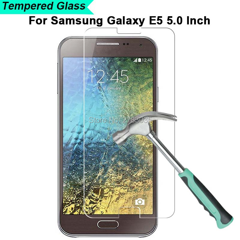 For Samsung Galaxy E5 E500 5.0 New 9H Hardness 2.5D Ultra-thin Toughened Tempered Glass Film Screen Protector Protect Guard