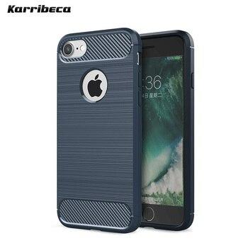Углеродного волокна матовый Силиконовый чехол на айфон 5 5s se чехла случае сумка прочная Броня Мягкие кремний селиконовые чехлы для apple iphone x 6... >> KARRIBECA AJY Store