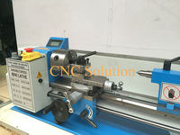 550W Mini Lathe Metal Thread Processing Variable Speed 220V High Precision DIY Brushless CNC Lathe Machine CJ0618 & Free Gift