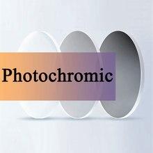 Оптические линзы фотохромные серый рецепту Асферические очки близорукости дальнозоркости, устойчивое к царапинам 1,56 1,61 1,67 индекс