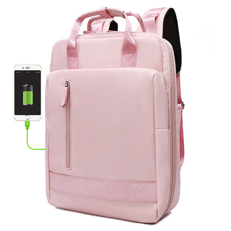 Hot Women USB Charging Laptop Backpack For Teenage Students Girls School Backpack Bag Female Backpacks Mochilas Travel Bagpack