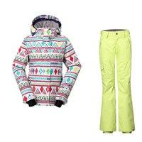 Verdicken hosen wasserdicht winddicht atmungsaktiv skianzug weiblichen gsou snow frauen skianzüge winter thermische wärme snowboard jacke