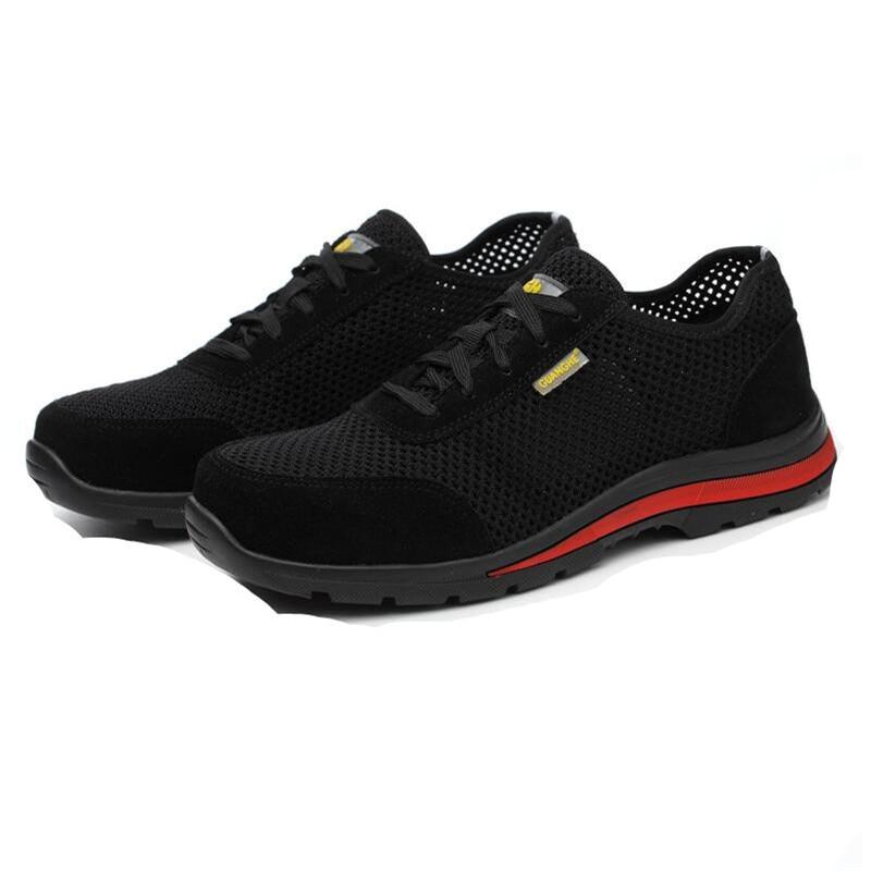 Acier Hommes Protection Travail Plus 1 Zapatos En Souple Sécurité 2 La Robe Chaussures Embout Sandales Respirant Taille D'été Cuir De Homme nYfxdaYqr
