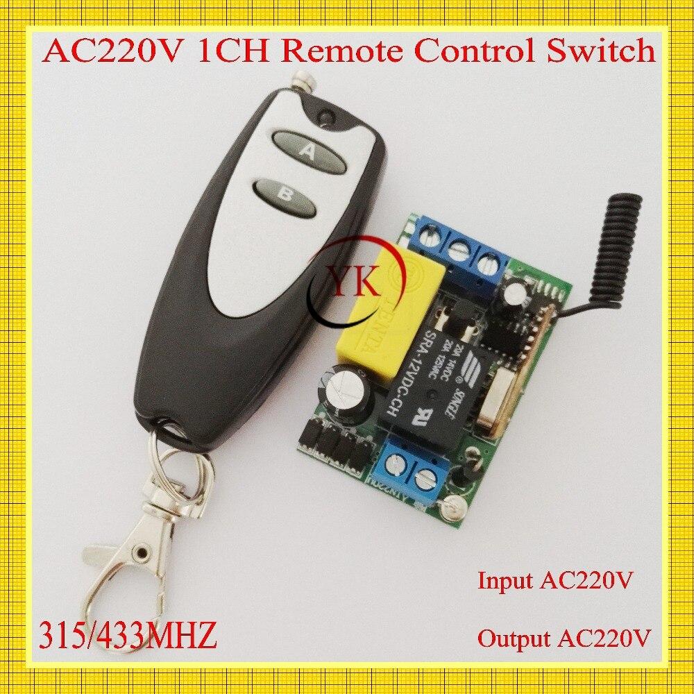 AC220V 1CH Remote Control Switch Light Lamp LED Fog Lamp Car Light Corridor Light Remote Control Switch Input 220v Output 220v