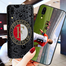 цена на Yinuoda Phone Case For Feyenoord Rotterdam FC Huawei P9 lite P10 Black Soft TPU DIY Case For P8 lite 2017 mate 10 P30 NOVA lite