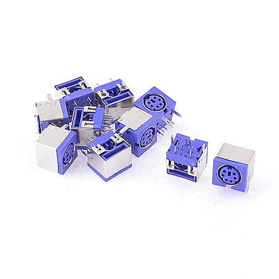 50pcs USB 2.0 MALE PLUG  to MINI DIN 6 PIN FEMALE MOUSE PS//2 connector