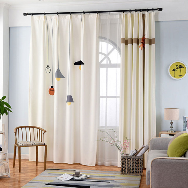 Einzelplatten Nordischen Stil 3d Vorhange Fur Schlafzimmer Fenster