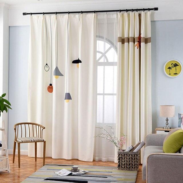 Vaak Enkele Panelen Nordic Stijl 3d Gordijnen Slaapkamer Raamdecoratie OL13
