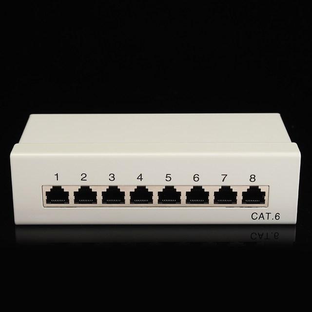 Panel de Conexión UTP Cat6 $ number puertos RJ45 Adaptador de Red Ethernet LAN Cable Con Repartidor Conector Herramienta de Rack Rack