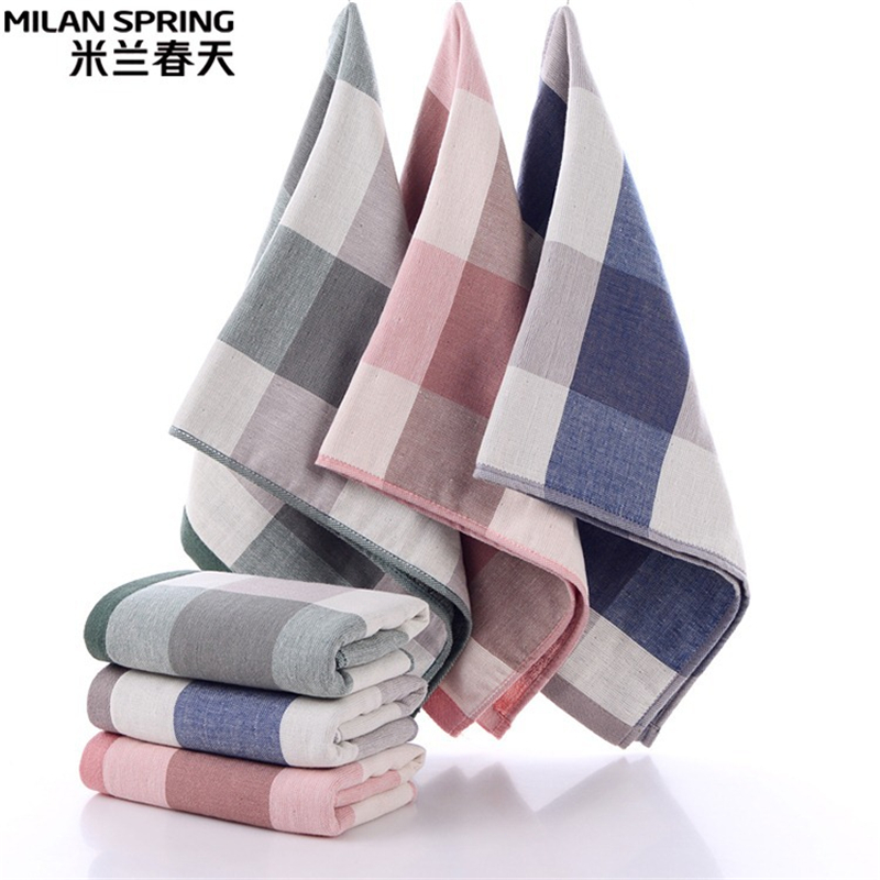 100% Cotton Gauze Terry No Printed Wind Towel Cloth Lattice Soft And Breathable Adult Men And Women Wash Towel 34x70cm Sophisticated Technologies Home Textile Sport Towels