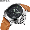 GIMTO Mens Watches Top Brand Luxury Watch Men Business Leather Clock Casual Watch Sport Watches Analog Chronograph Relogio Mascu