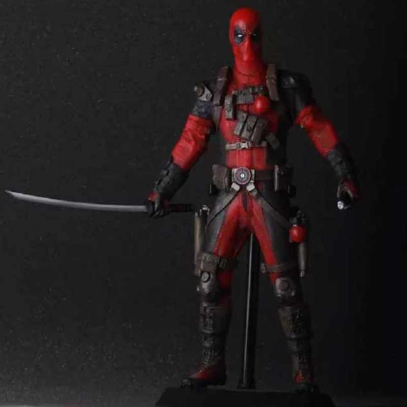 12 Polegada Deadpool Marvel X-MEN super-homem Pvc Anime Figura Dos Desenhos Animados Toy X-man Versão Vermelho Deadpool Exibição modelo Boneca Cool Anime Jouet