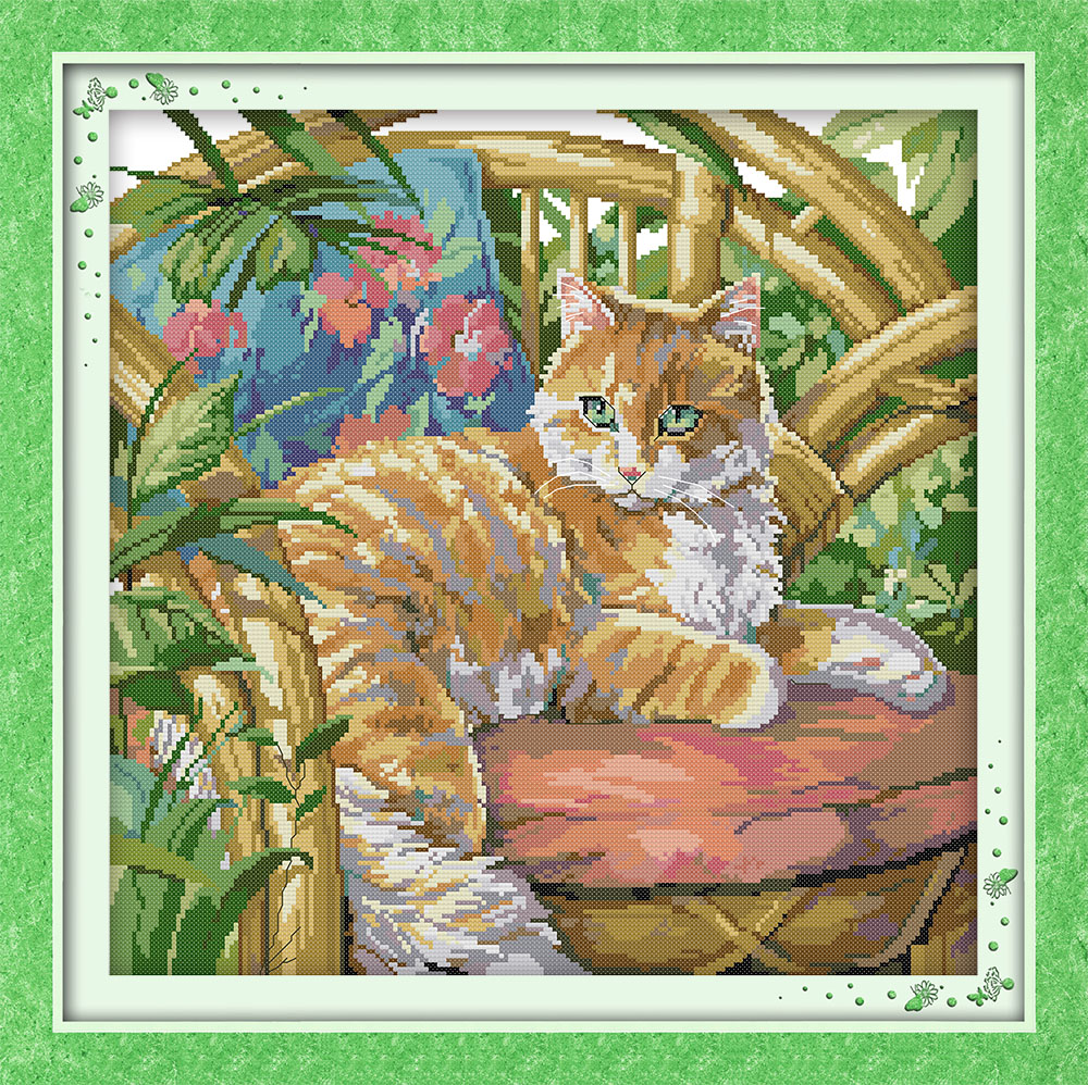 The cat on chair dmc embroidery floss in thread home