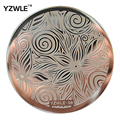 1 Sheet Stamping Nail Art Image Plate, 5.6cm Stainless Steel Template Polish Manicure Stencil Tools (YZWLE-08)
