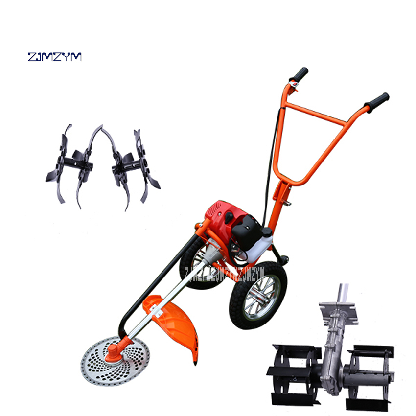 New Arrival Hand-push Lawn Mower Multi-function Loosener Weeder Four-stroke 140FA Agricultural Orchard Mower 1.0KW 6500r/m 0.65L harris m mower d new opportunities intermediate sts bk