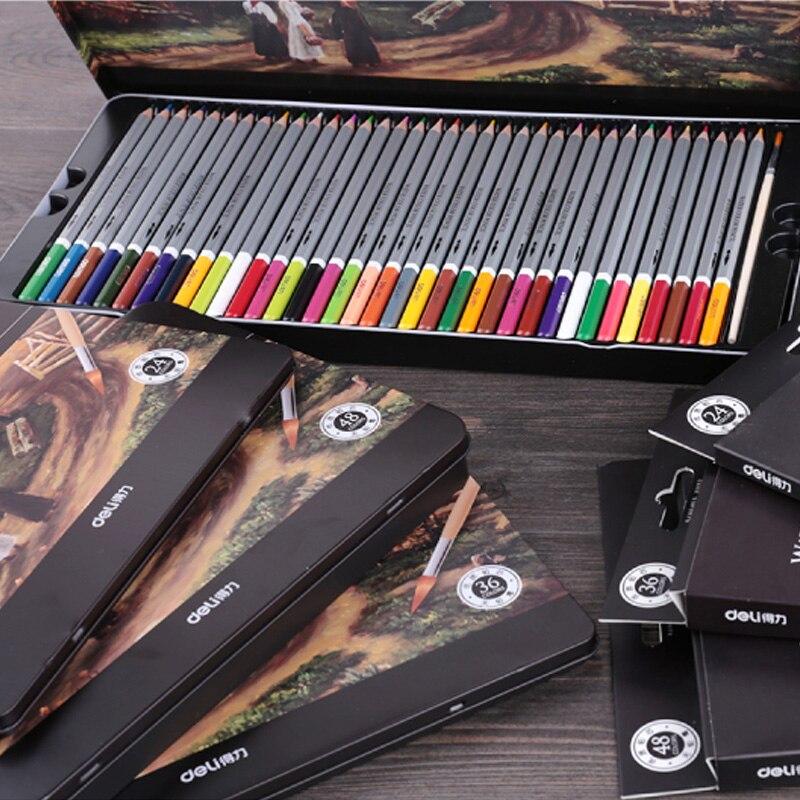 Deli Watercolor Pencil Painting Pencil Lapis De Cor Prismacolor Colored Pencils Lapices De Colores Pastel Pencils Drawing Tools