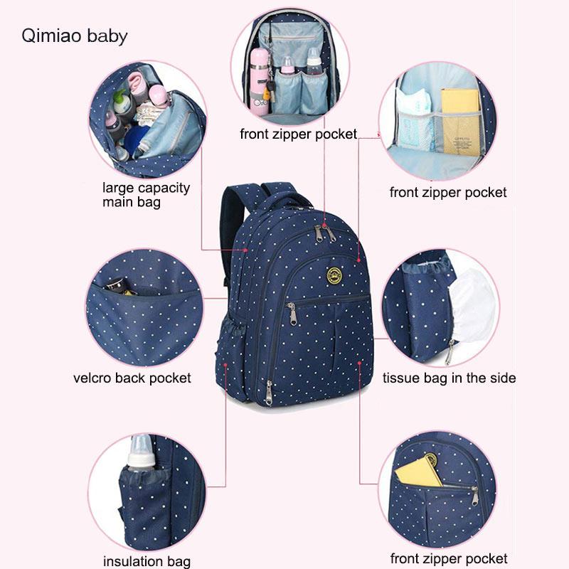Bolsa de pañales multifunción para la madre Cochecito de bebé - Pañales y entrenamiento para ir al baño - foto 3