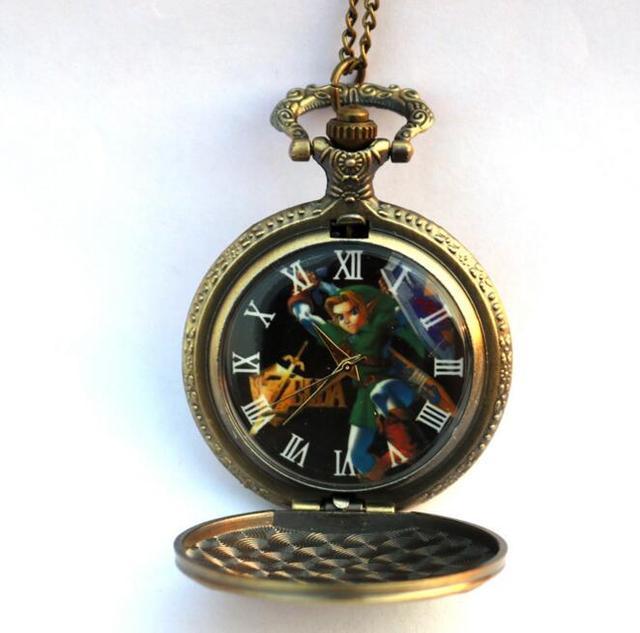 The Legend of Zelda Bronze Quartz Pocket Watch