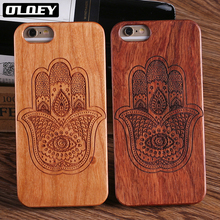 OLOEY Wood Case For Samsung S7 S8 Edge S9 S9 Plus 100% Natural Carving Case For iPhone 7 6 8Plus XS Max  5 5S SE 8 8Plus Cover все цены