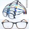 Оптовая много 1061 ученик TR90 красочный оптический полный обод с 180 градусов гибкой весной шарнир площади оптические очки кадр
