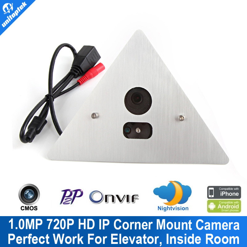 ФОТО 1.0MP HD 720P Corner Elevator Mini CCTV IP Camera Vandal-Proof 79 Degree 3.6mm Lens 1Pc Array Led IR 10m 0.001 Lux