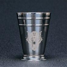 400ml Stainless Steel Engraved Julep Cocktail Mug Creative Metal Mugs Bar Tools
