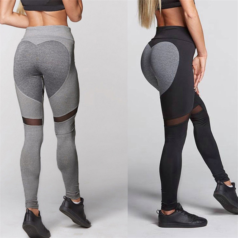 a16329068914ed Women Fitness Yoga Pants Sexy Hips Push Up Leggings Heart shape Breathable  Running Tights Leggins Athletic Workout Sportswear-in Yoga Pants from  Sports ...