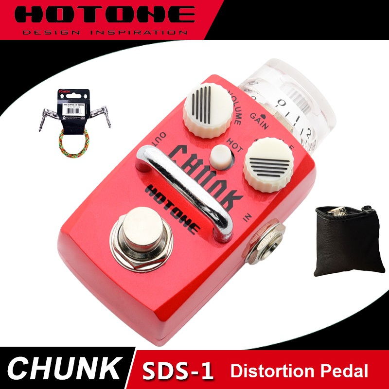 Hotone Skyline Series CHUNK British Style Distortion Pedal with Free Pedal Case and More hotone skyboard junior pedal board designed for skyline series stompboxes spb 1