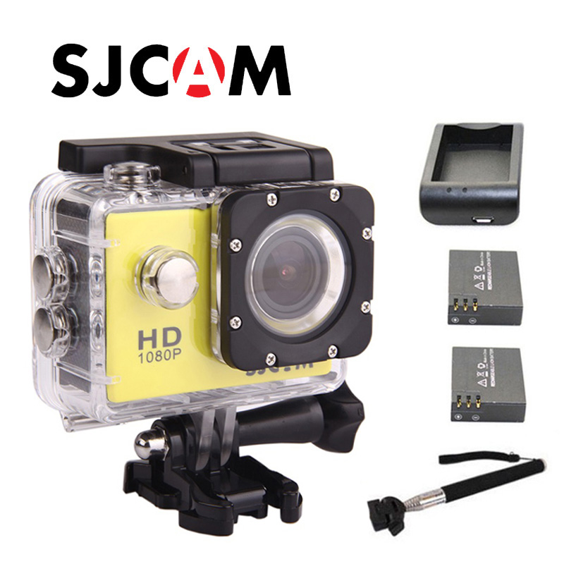 Free shipping!!Original SJCAM SJ4000 Action Camera Diving Waterproof Sport Action Camera Extra 2 Batteries+Monopod+Charger image