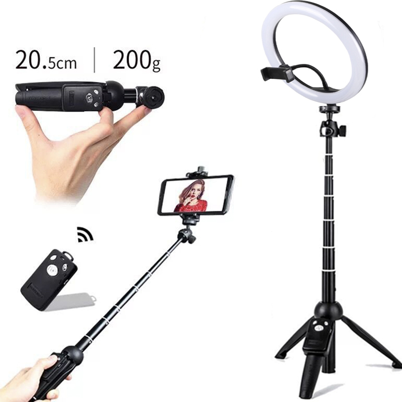 26cm Ring Light USB Charge Ring LED 110cm Height YUNTENG Self Stick for Camera Phone Photography Smartphone Studio Live show26cm Ring Light USB Charge Ring LED 110cm Height YUNTENG Self Stick for Camera Phone Photography Smartphone Studio Live show