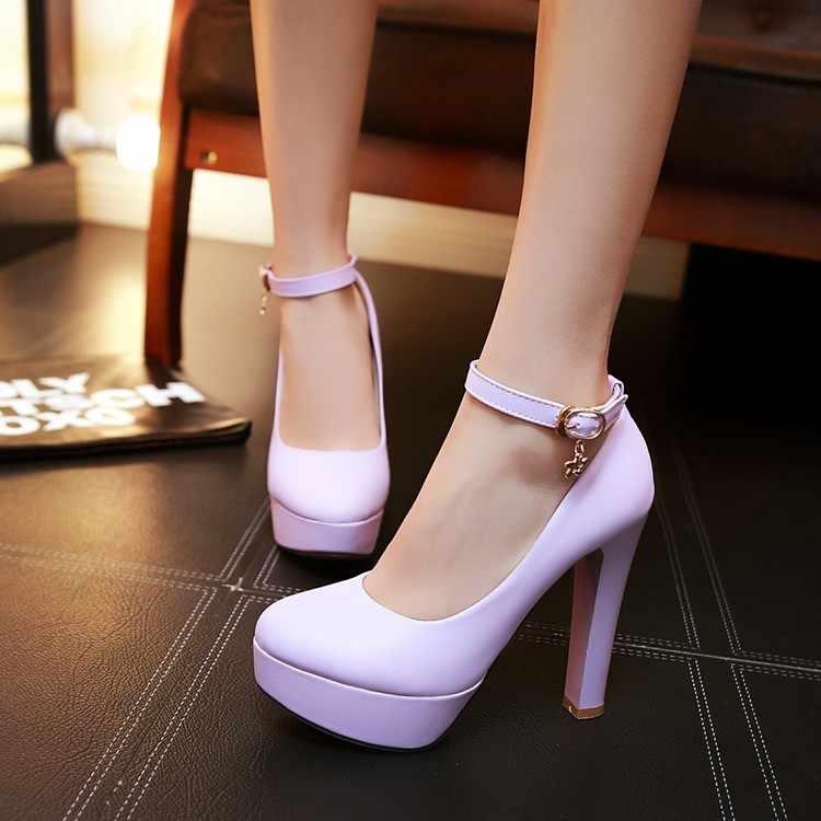 Beyaz Kadın tek ayakkabı kadın yüksek topuklu ayakkabı Gece Kulüpleri Ince Platformu Gece Sığ Ağız Bir Kelime Ayakkabı Büyük Boy 32 42 43
