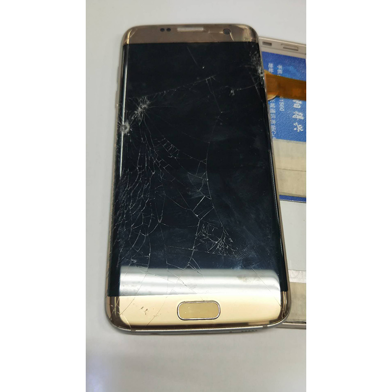Сломанный ЖК дисплей для Samsung S7edge/s8 + plus/S9 черный точечный бесполезный ЖК дисплей для практики разделения дисплея и сенсорного экрана с рамкой|Экраны для мобильных телефонов|   | АлиЭкспресс