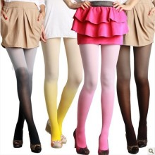 Women sexy Gradient color pantyhose 80D ultra thin tights candy colors leg slimming stockings fashion socks 7