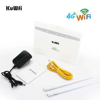 KuWfi 4 グラム Cpe 無線 Lan ルータ 3 グラム/4 4G LTE Cpe ルータ 4 グラムモデム 32 までユーザー 150 150mbps Cat4 ワイヤレスルータ RJ45Ports 2 個アンテナ