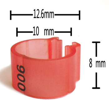 free shipping 1000pc clip ring 10mm numbered ring 1-100 for pigeons