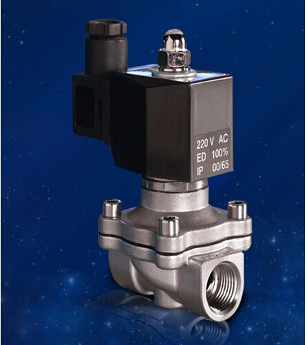 3/8' Stainless Steel Electric solenoid valve Normally Closed IP65 Square coil water solenoid valve