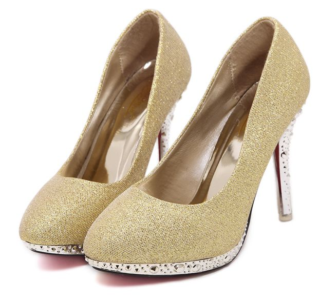 10CM thin high heels round toes pumps shoes woman gold silver metal heel sexy party wedding shoes TG1467 red parties pumps