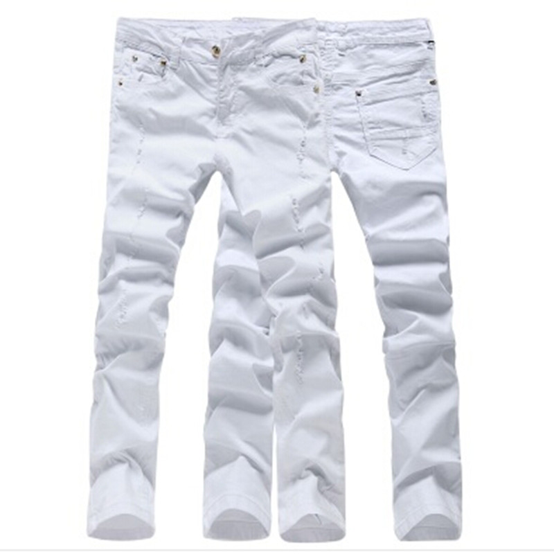 2018 New Style Hole Patch Beggars Slim Men Jeans Pants mens Denim Straight Trousers 28-3 ...