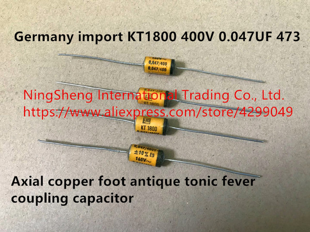 Original new 100% Germany import KT1800 400V 0.047UF 473 axial copper foot antique tonic fever coupling capacitor (Inductor)