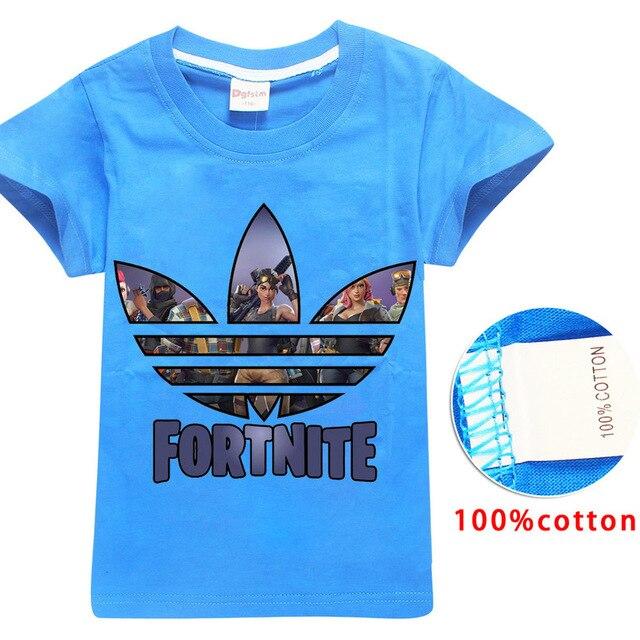 a17c2d3151 Bobo-choses-100-cotton-blue-t-shirts-Fortnite-2018-summer-big-boy-and-girl-T -shirt.jpg_640x640.jpg