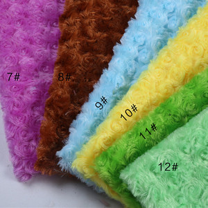 candy color luxury plush material villus clothes counter display cloth background cloth rose plush fur PV fur fabric