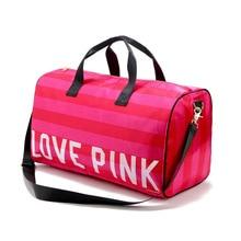 Mode Faltung Reisetasche Große Kapazität Wasserdichte rosa shouder Beutel Wochenende Reisetasche Duffle Tasche Frauen casual handtasche