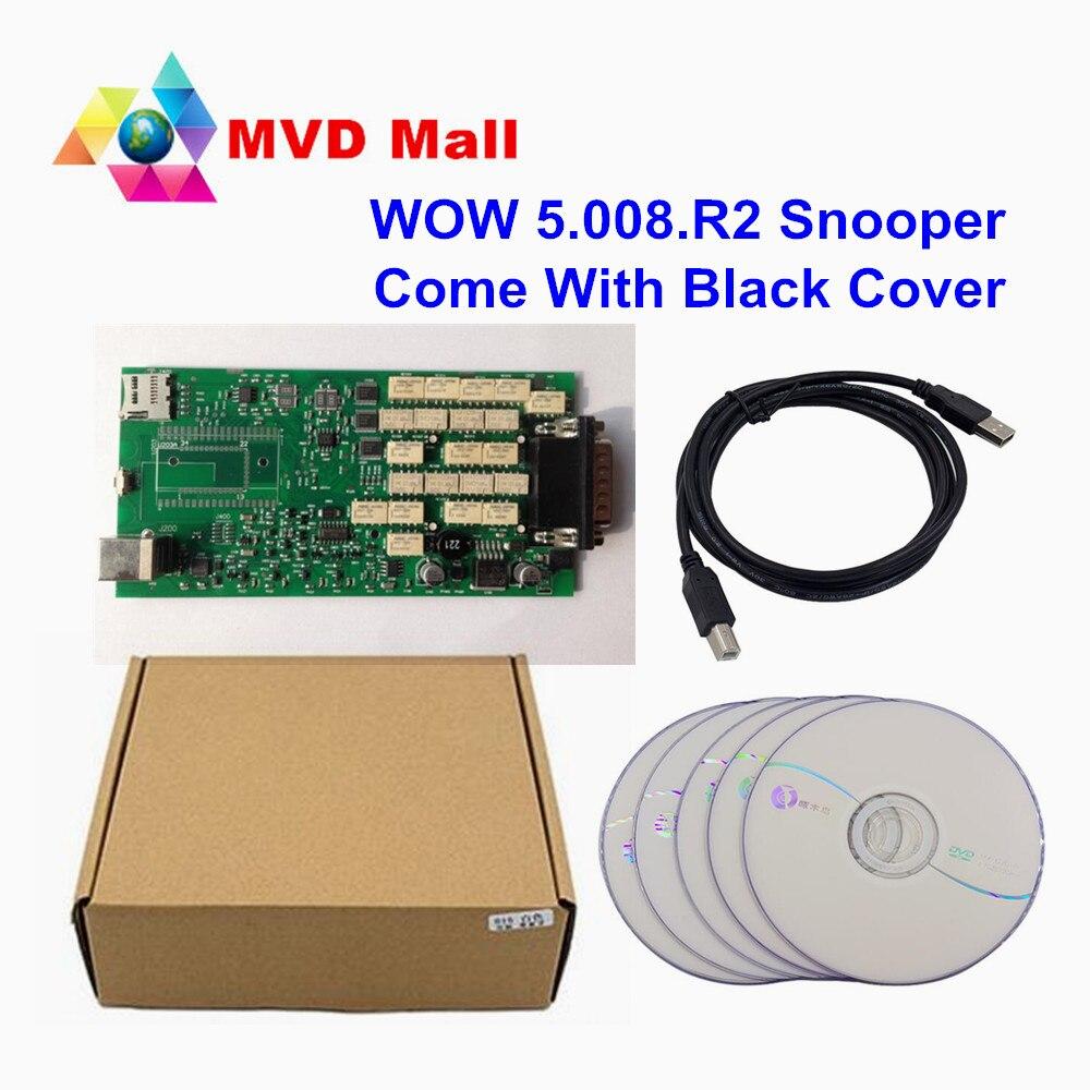Цена за WOW snooper V5.008 R2 + WOW Keygen Бесплатная активации одной печатной плате TCS CDP WOW инструмент диагностики Поддержка автомобиля Бренды до 2016