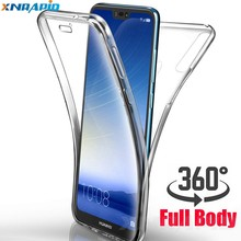 360 Degree Case For huawei P20 Lite Case Transparent Soft TPU on the Cover Case For Huawei P30 Mate 20 Pro P30 Lite Phone Case(China)