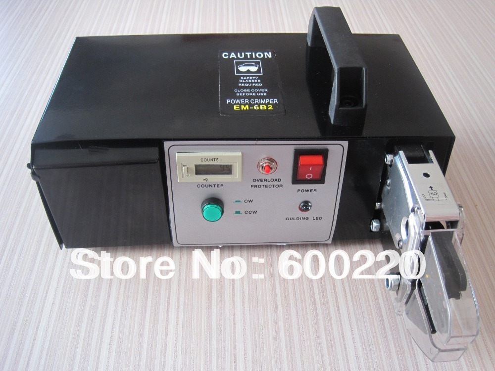 Em 6b2 электрические обжимной инструмент со сменными die Наборы для ухода за кожей 220 В электрическая машина для обжима