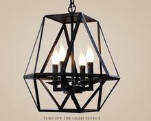 A1 Großhandel industrie wind retro cafe bar antiken kronleuchter eisen käfig kreative glas kerzenständer Kronleuchter